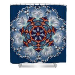 Blue Flower Shower Curtain by Lena Photo Art