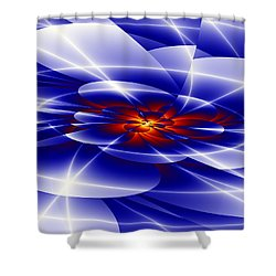 Blue Shower Curtain by Hai Pham