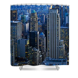 Blue Hour In New York City Usa Shower Curtain by Sabine Jacobs