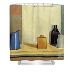 Blue Jug Alone Shower Curtain by William Packer
