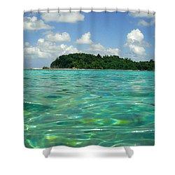 Blue Lagoon Shower Curtain by Carey Chen