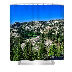 Blue Lake Shower Curtain by Robert Bales
