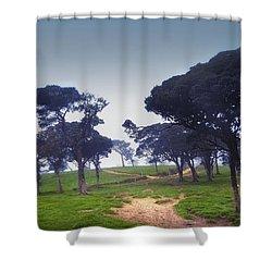 Blue Mist Silence. Sri Lanka Shower Curtain by Jenny Rainbow