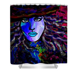 Blue Mystique Shower Curtain by Natalie Holland