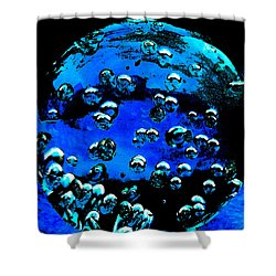 Blue Planet  Shower Curtain by Colette V Hera  Guggenheim
