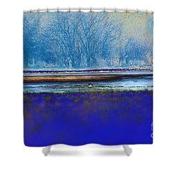 Blue Water Shower Curtain by Carol Lynch
