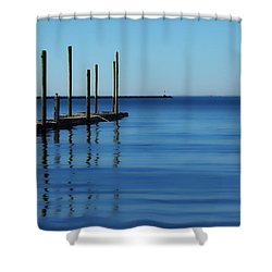 Blue Water Shower Curtain by Karol Livote