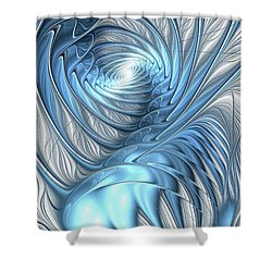 Blue Wave Shower Curtain by Anastasiya Malakhova