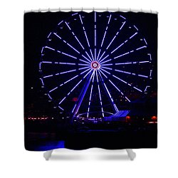 Blue Wheel Of Fortune Shower Curtain by Kym Backland