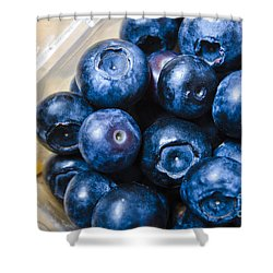 Blueberries Punnet Shower Curtain by Jorgo Photography - Wall Art Gallery