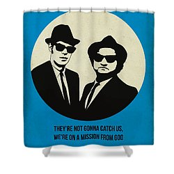Blues Brothers Poster Shower Curtain by Naxart Studio