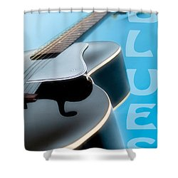 Blues Guitar Shower Curtain by David and Carol Kelly