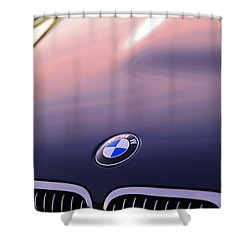 Bmw Hood Emblem Shower Curtain by Jill Reger
