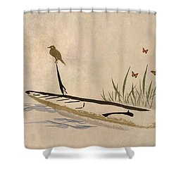 Boat Shower Curtain by Aged Pixel