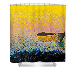 Boat Shower Curtain by Andrew Petras