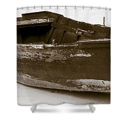 Boat Shower Curtain by Frank Tschakert