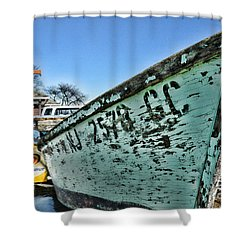 Boat - In A State Of Decay Shower Curtain by Paul Ward