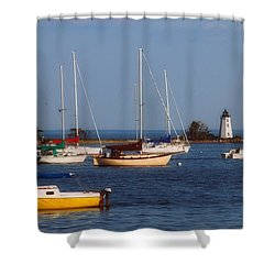 Boating On Long Island Sound Shower Curtain by Joann Vitali