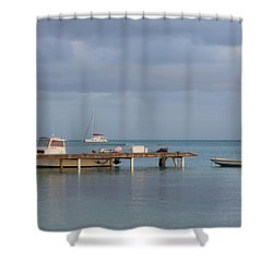 Boats At Rest Shower Curtain by Eric Glaser