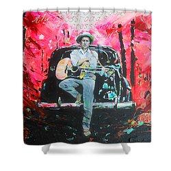 Bob Dylan - Crossroads Shower Curtain by Lucia Hoogervorst