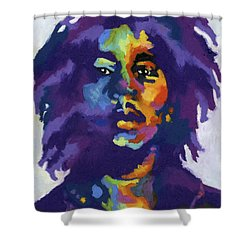 Bob Marley Shower Curtain by Stephen Anderson