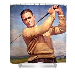 bobby Jones Shower Curtain by Tim Gilliland