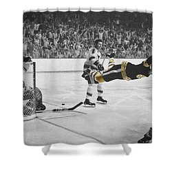 Bobby Orr 2 Shower Curtain by Andrew Fare