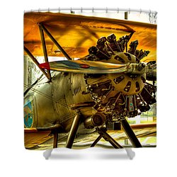 Boeing 100p Fighter Shower Curtain by David Patterson