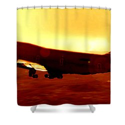 Boeing Beauty Shower Curtain by Marcello Cicchini