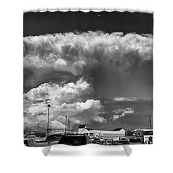Boiling Sky Shower Curtain by Trever Miller