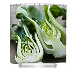 Bok Choy Shower Curtain by Elena Elisseeva