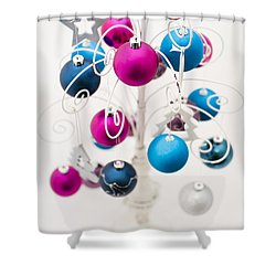 Bold Baubles Shower Curtain by Anne Gilbert
