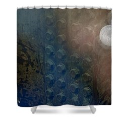 Bolts On The Trident Shower Curtain by Rob Hans