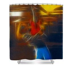 Bon Jovi-ritchie-gb2-fractal Shower Curtain by Gary Gingrich Galleries