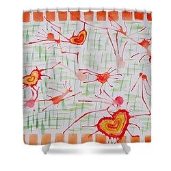 Bonds Of Love Shower Curtain by Sonali Gangane