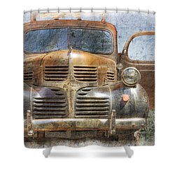 Bonnie And Clyde Shower Curtain by Debra and Dave Vanderlaan