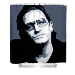 Bono Shower Curtain by Dan Sproul
