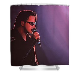 Bono U2 Shower Curtain by Paul Meijering