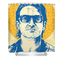Bono Pop Art Shower Curtain by Jim Zahniser