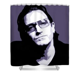 Bono Portrait Shower Curtain by Dan Sproul
