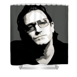 Bono Poster Shower Curtain by Dan Sproul