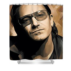 Bono U2 Artwork 2 Shower Curtain by Sheraz A