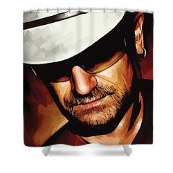 Bono U2 Artwork 3 Shower Curtain by Sheraz A