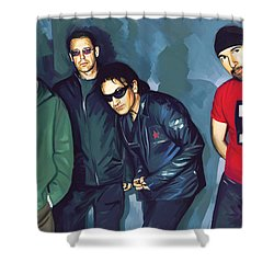 Bono U2 Artwork 5 Shower Curtain by Sheraz A