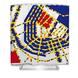 Boogie Woogie Amsterdam Shower Curtain by Chungkong Art
