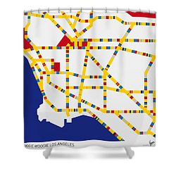 Boogie Woogie Los Angeles Shower Curtain by Chungkong Art