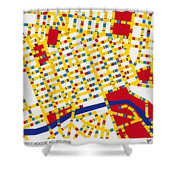 Boogie Woogie Melbourne Shower Curtain by Chungkong Art