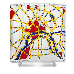 Boogie Woogie Moscow Shower Curtain by Chungkong Art