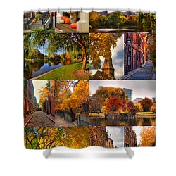 Boston Autumn Days Shower Curtain by Joann Vitali
