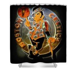 Boston Celtics Logo Shower Curtain by Stephen Stookey